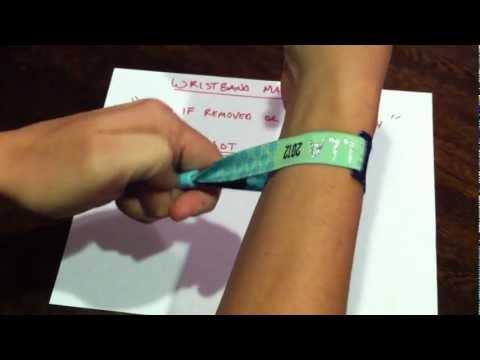 Coachella Remove Wristband Must See (Original) Magic Trick
