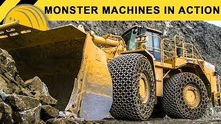Monster Machines in Action - Giant XXL Heavy Equipment Demoshow - Bauforum24 Steinexpo Report