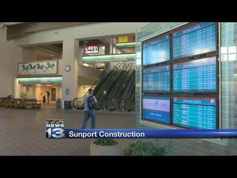 Sunport construction should not interfere with travelers' plans