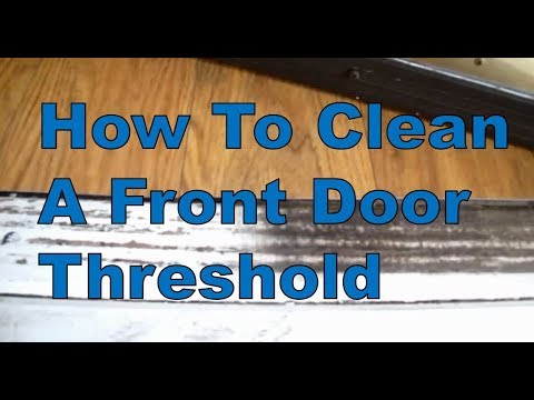 How To Easily Clean A Door Threshold Using Super Clean | Great Results