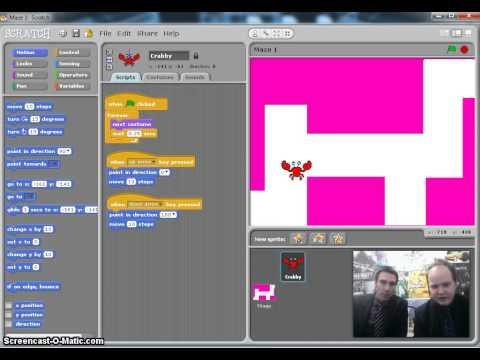 Scratch Maze Game (Step 2): Keyboard Movement