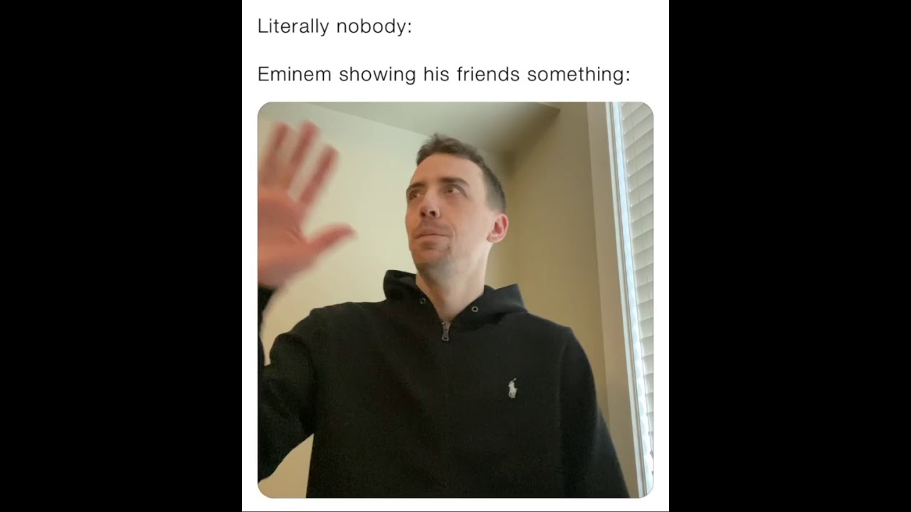 Eminem showing his friends some bars