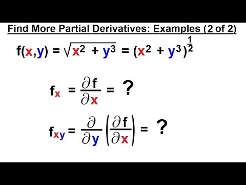 Calculus 3: Partial Derivative (14 of 30) Find More Partial Derivatives: Example (2 of 2)