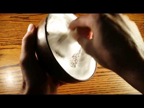 How to build a lather with a brush!