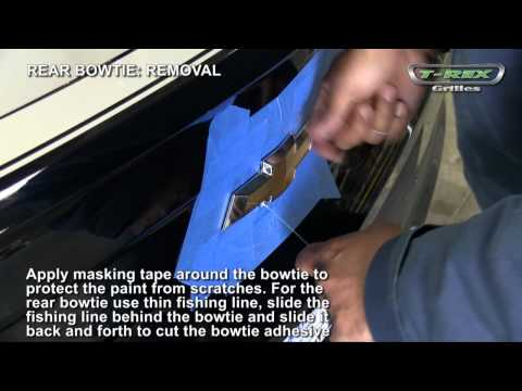 2010-2011 Chevrolet Camaro Bowties Removal Installation