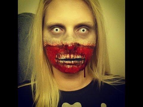 Zombie Makeup Tutorial - Gory Face