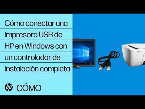Cómo conectar una impresora USB de HP en Windows con un controlador de instalación completa