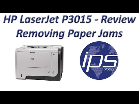 HP LaserJet P3015 - Review Removing Paper Jams