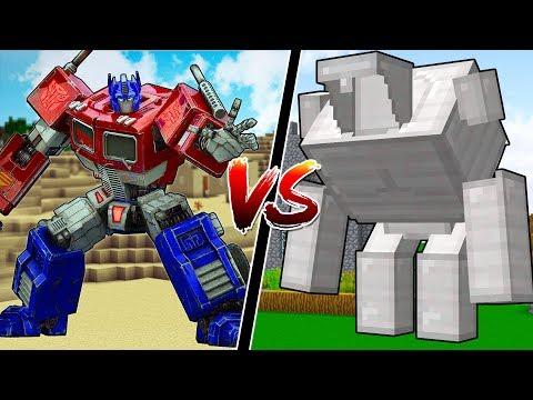 MINECRAFT TRANSFORMERS vs NEW MINECRAFT GOLEM!!
