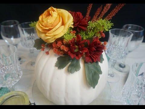 DIY Tutorial: Pumpkin Passion Centerpiece for Under $25!