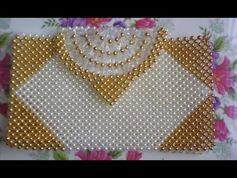 পুতির ব্যাগ/How to make a beaded purse(part-1)/beaded bag