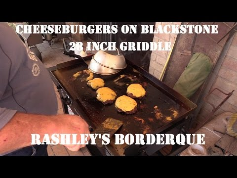 Cheeseburgers on Blackstone 28 in  Griddle