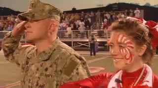 Father Surprises Cheerleader