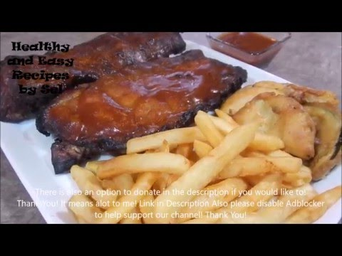Baby Back Pork Ribs with Fries and BBQ Sauce Recipe