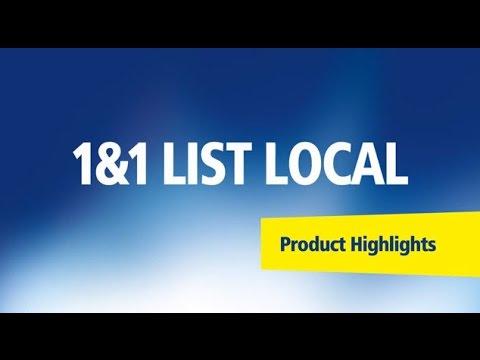 1&1 ListLocal – Product Highlights