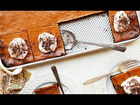 Chocolate Pumpkin Slab Pie
