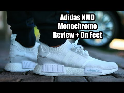 188cc23b552 Adidas NMD Prime Knit Monochrome Pack Triple White Review + On Feet