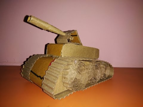 How to make paper tank. Tank from cardboard