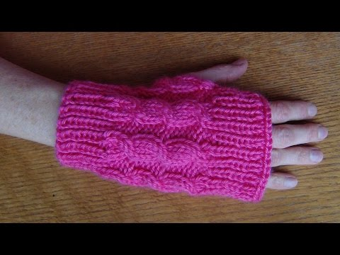 Knit Cabled Fingerless Gloves