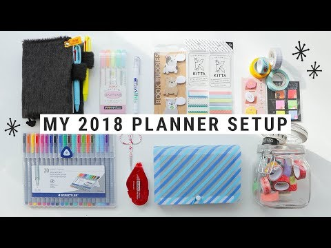 My 2018 Planner Setup + Favorite Accessories!