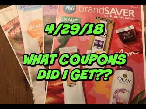 4/29/18 ~ WHAT COUPONS DID I GET TODAY?