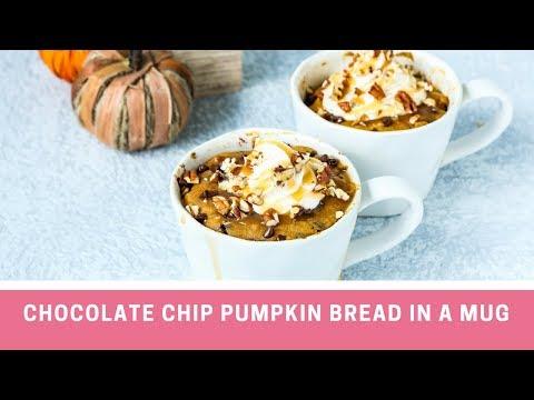 Chocolate Chip Pumpkin Bread in a Mug