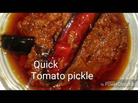 Tomato achar/Tomato pickle /Easy and quick tomato pickle/how to make tomato pickle