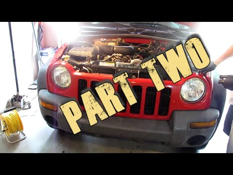 Part 2 Remove and Replace 2002 - 2007 Jeep Liberty Radiator