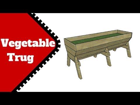 Vegetable Trough Plans