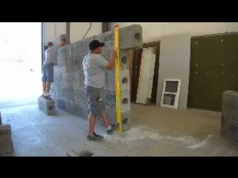 Building an APEX Block Wall Retaining Walls Insulated Concrete Form ICF ICFs HOW TO Build