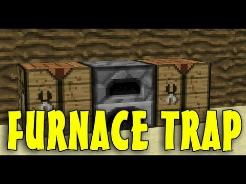 Minecraft: Furnace TNT Trap - Redstone Tutorials 1.7.4