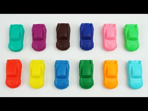 Play and Learn Animals with Playdough Modelling Clay with Disney Cars Mold Learnig Video for Toddler