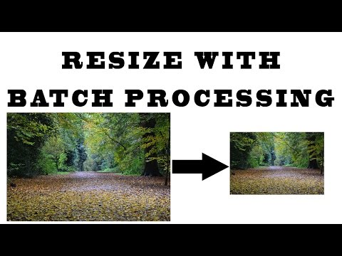 Photoshop Tutorial | Resize Images by Batch Processing