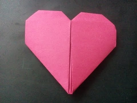 How to make a paper Heart - Origami