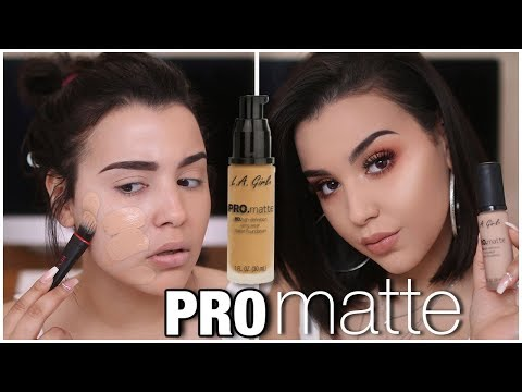 NEW L.A. GIRL PRO MATTE HD LONG WEAR FOUNDATION! FIRST IMPRESSION + REVIEW | MakeupByAmarie