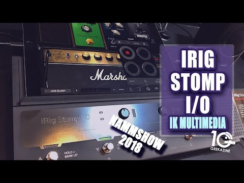 iRig Stomp I/O is a Pedalboard for Guitar, Voice, or Any Instrument