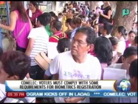 COMELEC: Voters must comply w/ some requirements for biometrics registration