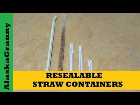 How to Make Straw Containers Waterproof Resealable