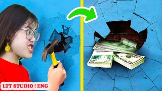 MONEY HIDING LIFE HACKS FOR GIRLS WOMEN / UNEXPECTED WAYS TO HIDE YOUR MONEY by LTT STUDIO ! ENG #39