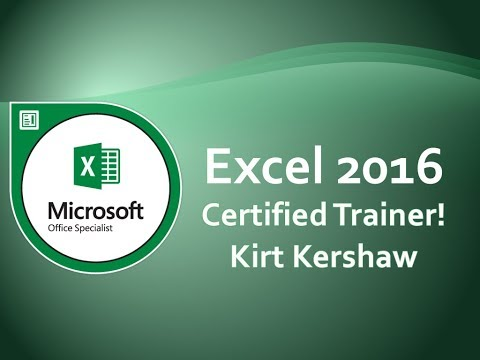 Microsoft Excel 2016: Consolidating Data