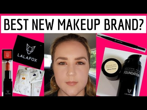 LALAFOX - BEST NEW BRAND OF MAKEUP AT THE DRUGSTORE! SECOND SKIN FOUNDATION 2017