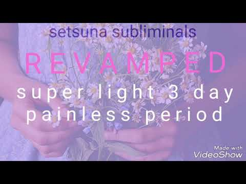 REVAMPED Super Light 3 Day Painless Period | Subliminal