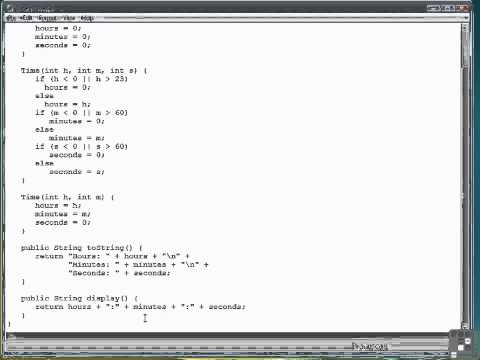 12 03 Displaying Class Data, toString