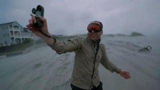 Hurricane Irene Pounds Film Crew   North America