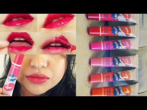 Peel off lip gloss tint :|: Demo of all 6 colors