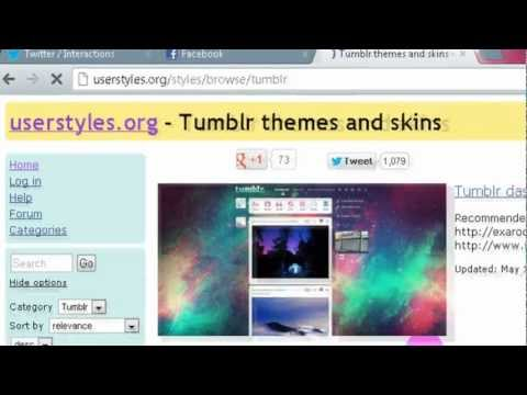 How to: Change the theme of your Tumblr dashboard