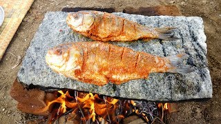 Primitive Style Fish Fry Recipe | Cooking in My Village | VILLAGE FOOD