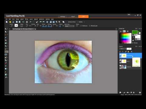 Creating Human Cat Eyes in PaintShop Pro X6