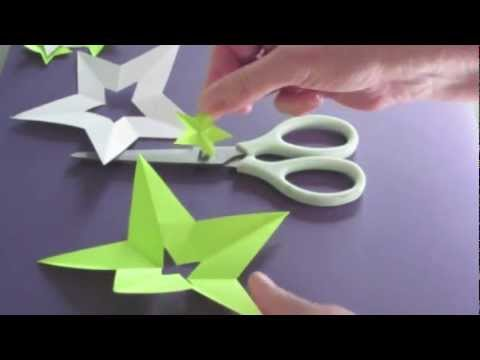 How to Make A Perfect Star With ONE Cut - Bonus: Make a Star in the Middle of Star