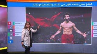 صلاح يحرز هدفه الأول في شباك مانشستر يونايتد ويثير الجدل باحتفاله